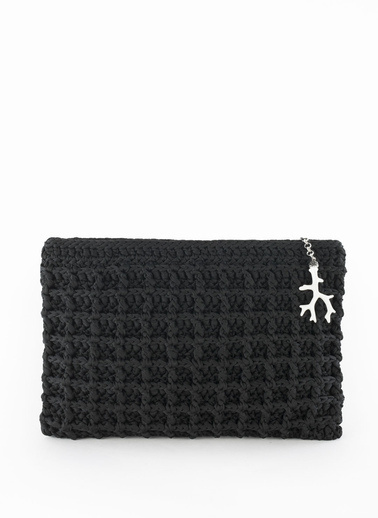 Silk and Cashmere Clutch / El Çantası Siyah